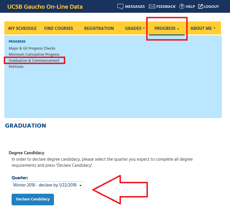 Academic Calendar Ucsb.Declare Candidacy For Graduation Ucsb Office Of The Registrar